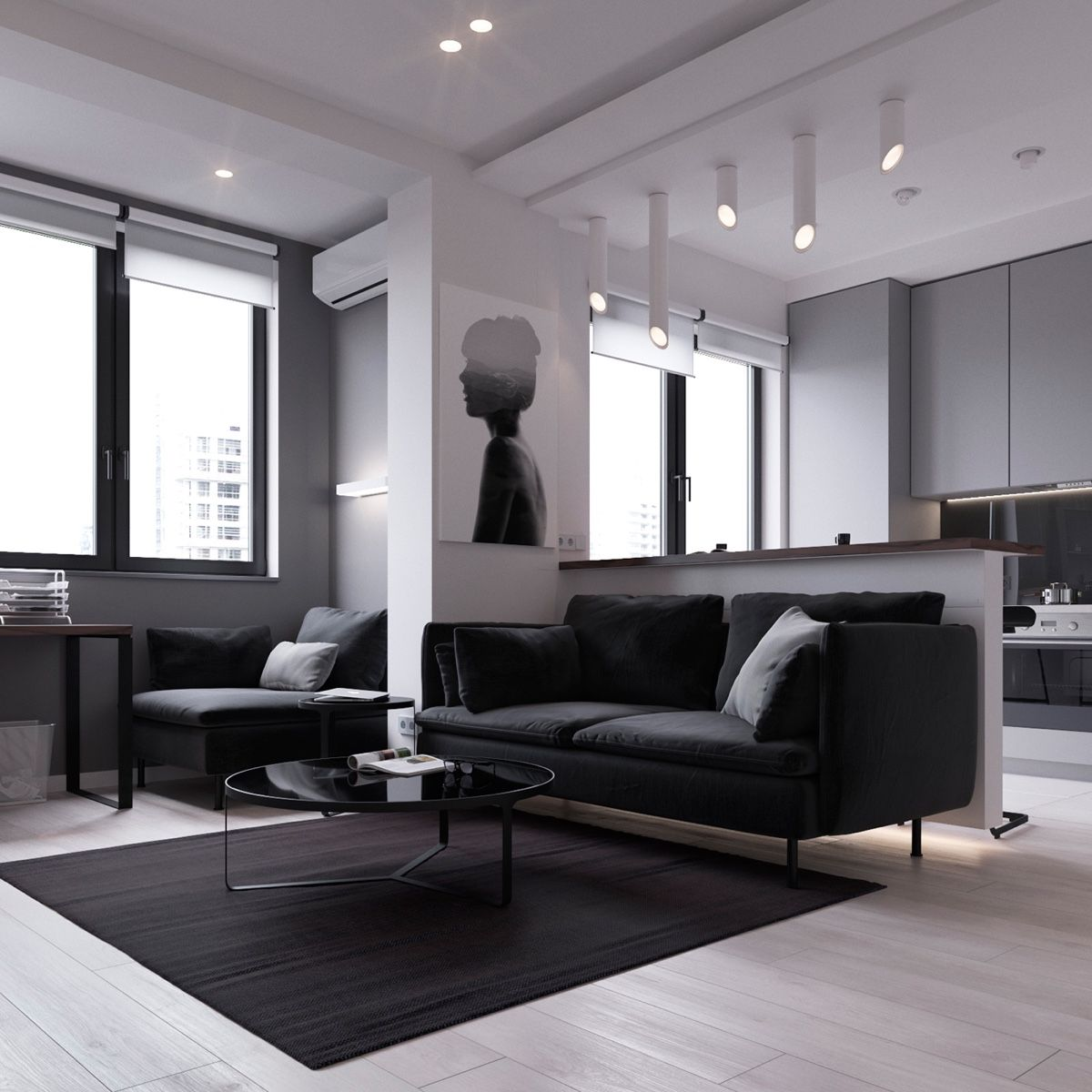 3 Modern Style Apartments Under 50 Square Meters (Includes ...