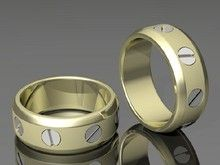 These wedding rings we designed for General Contractors Carpenters