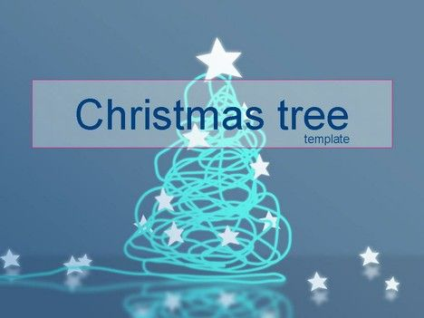 Christmas Tree Template Blue Lights Christmas Presentationmag
