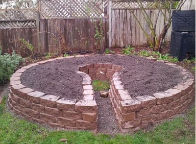 How to Build a Keyhole Garden. Just make the middle a bit bigger ...
