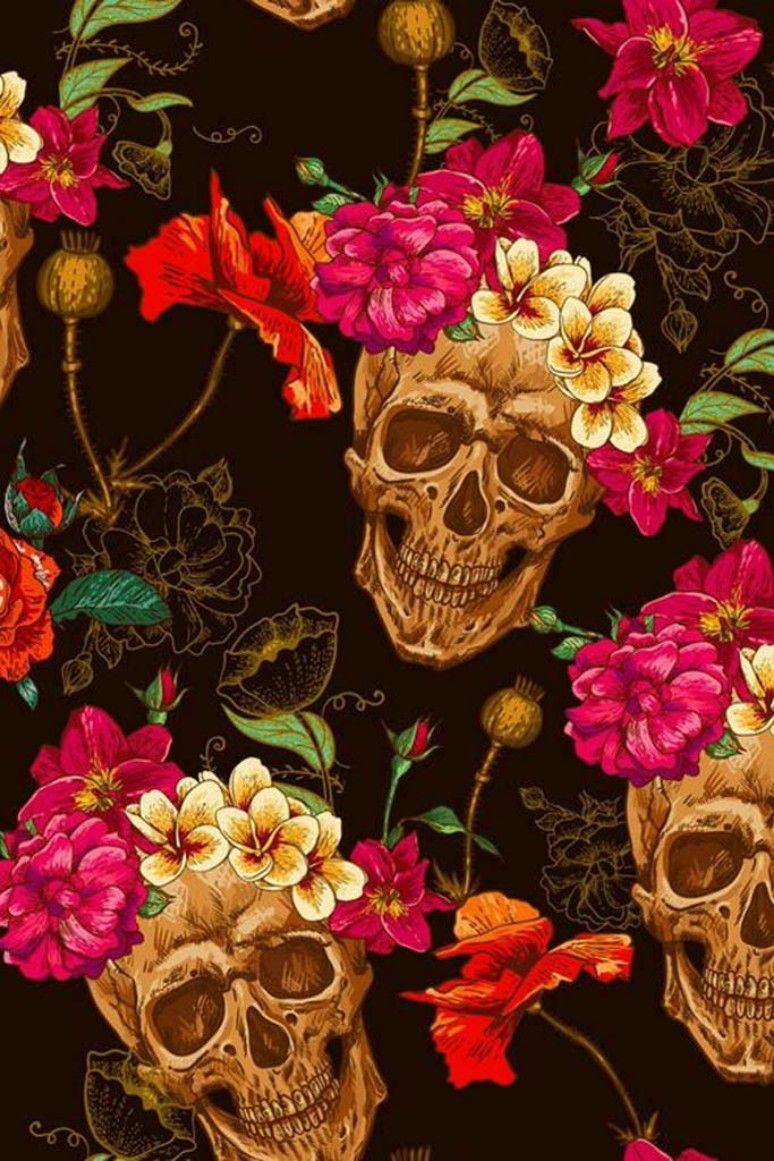 Pin By Alexander Mcqueen On Art Skull Art Skull Flower Skull