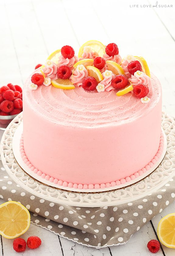 Lemon Raspberry Layer Cake Receita Bolo Framboesas E Ideias