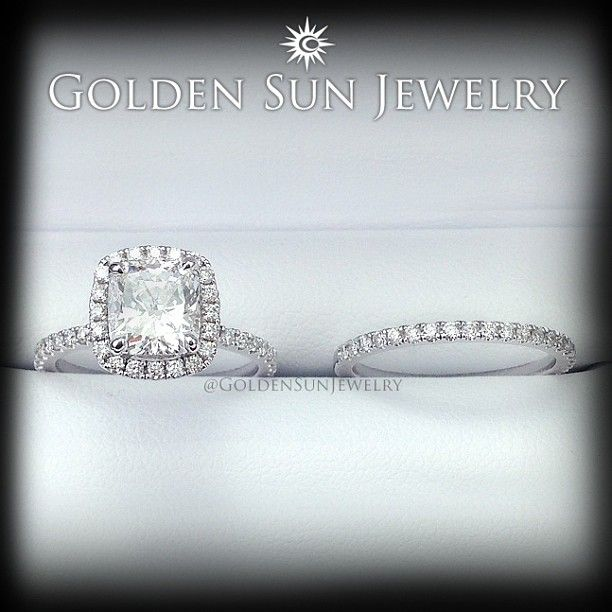 GOLDEN SUN JEWELRY: 1.75 E, SI1 Cushion Cut Diamond Engagement Ring. #engagement #engagementring #ring #ice #diamond #diamonds #diamondjewelry #flawless #fancy #gold #jewelry #lavish #luxury #carat #bling #bridal #bestjeweler #bestjewelry #bigdiamondring #halo #haloring #married #marriage #bride
