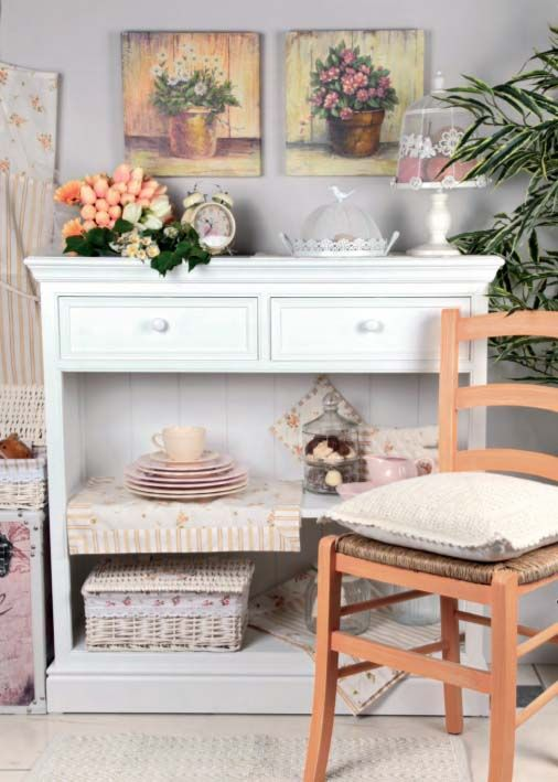 Credenza da cucina provenzale bianca | Cliccastore.com | Pinterest