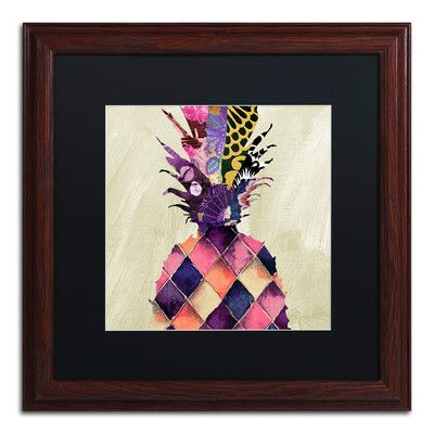 Trademark Art 'Pineapple Brocade II' by Color Bakery Framed Graphic Art
