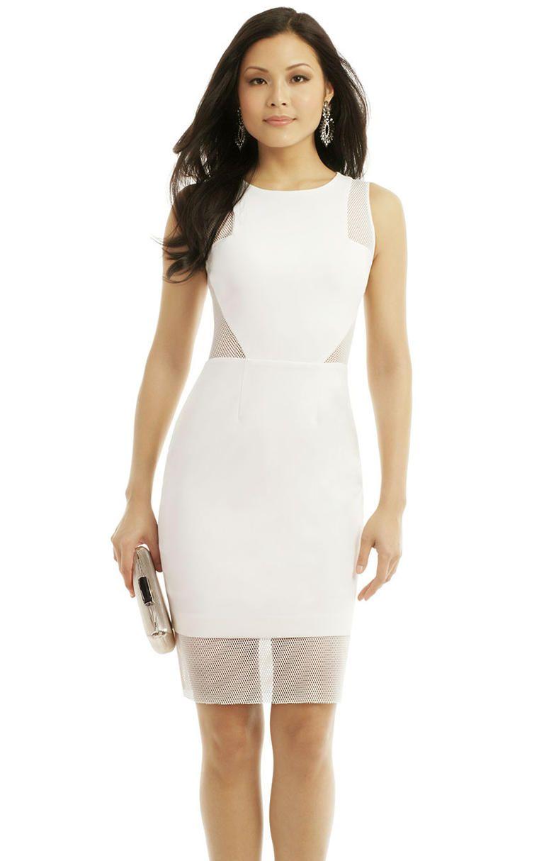 e6998483f10e 10 White Hot Bachelorette Party Dresses   5. Modern Cut Out Dress