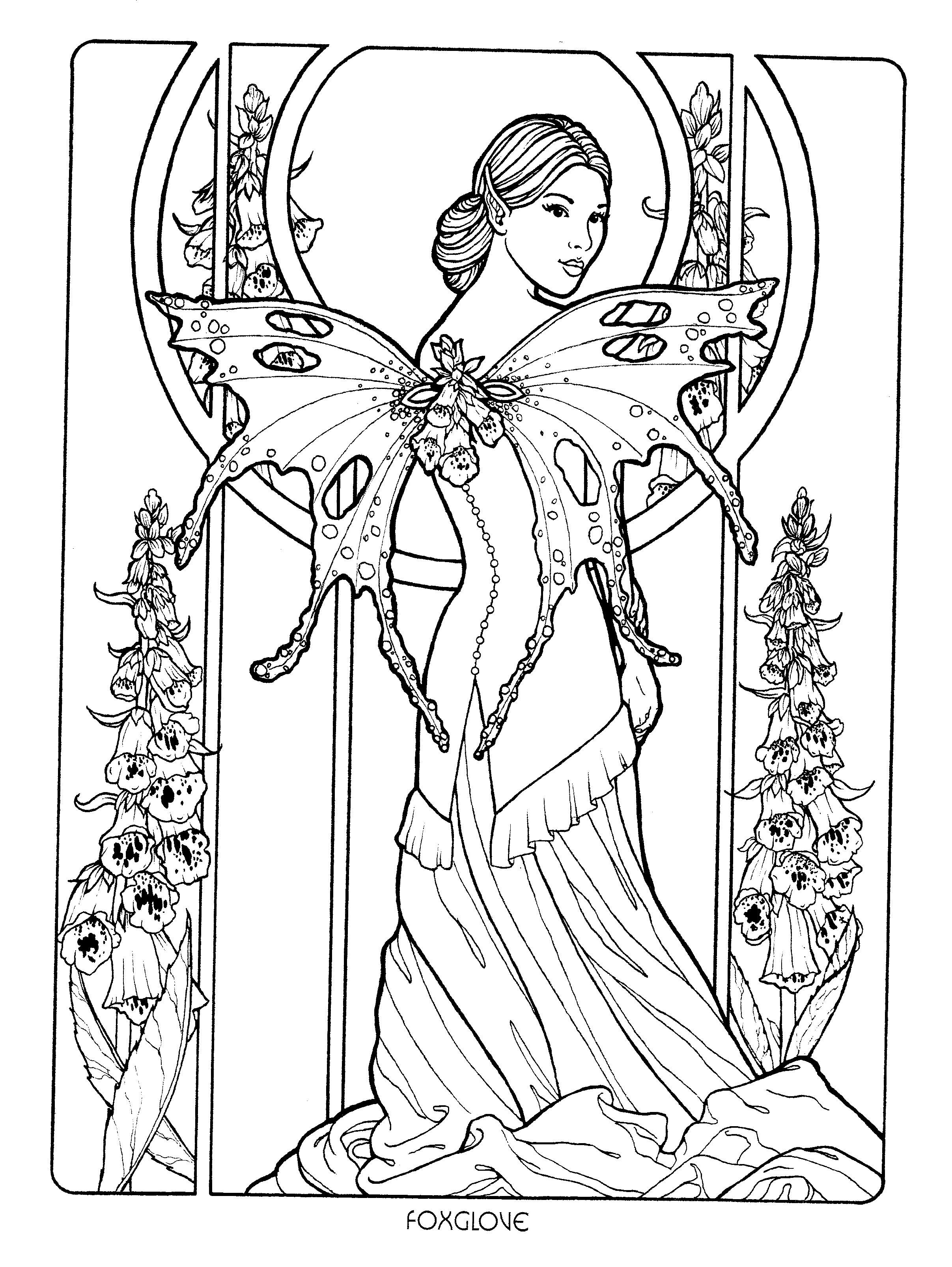 art nouveau fairy u003e if you u0027re in the market for the top coloring