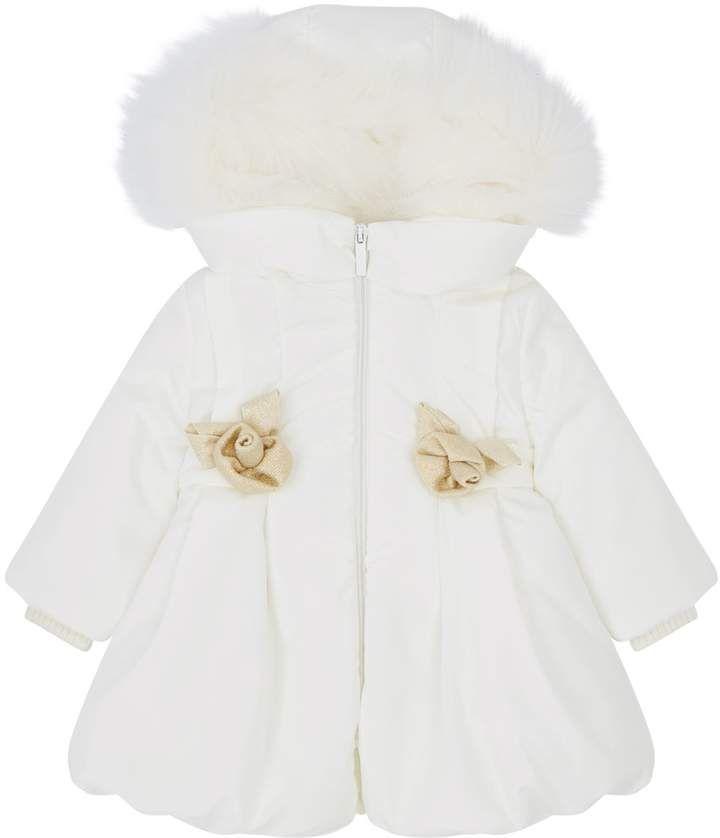 755bced93 Bimbalo Floral Fur Trim Coat