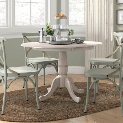 Lark Manor Overbay Extendable Solid Wood Dining Table Color