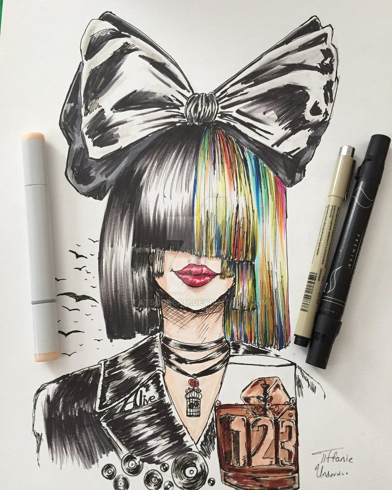Drawing Sia By Tatsudream Deviantart Com On Deviantart Con