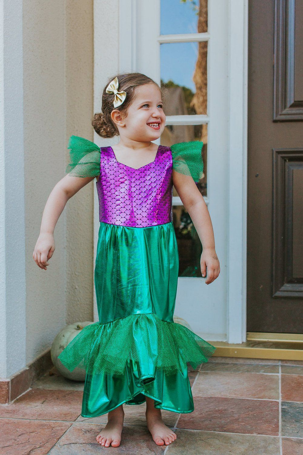 Ariel little mermaid costume party dress with images