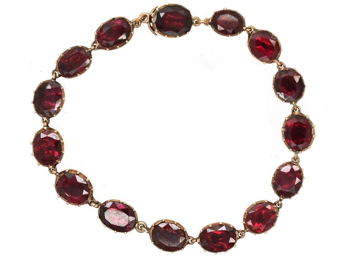 Dsc georgian jewellery pinterest garnet bracelet gold