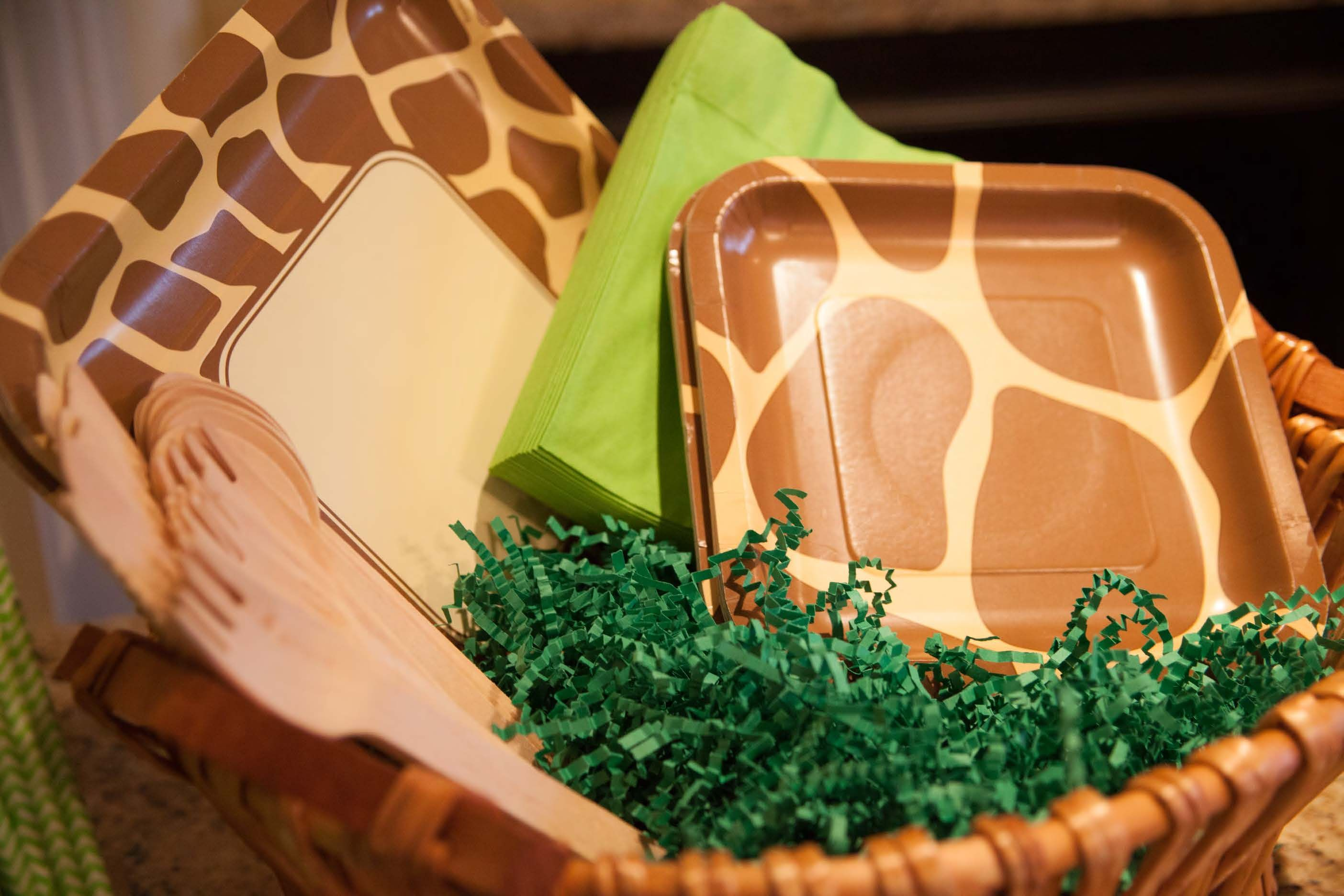 Paper grass (the kind used in Easter baskets) was perfect for ...