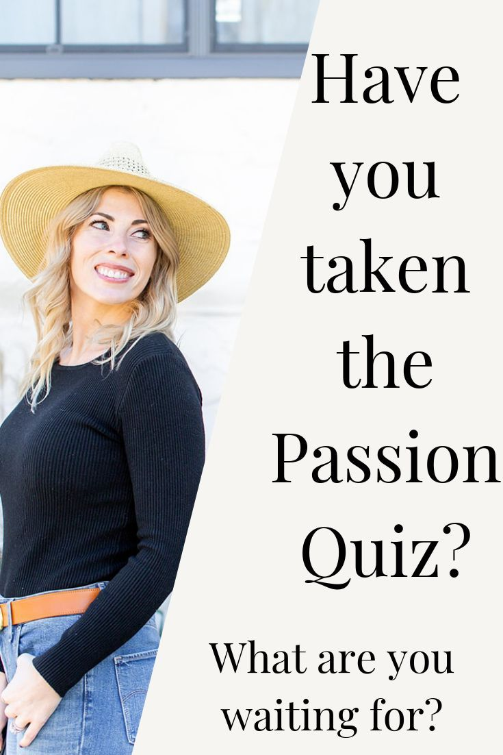 How do you find your passion test