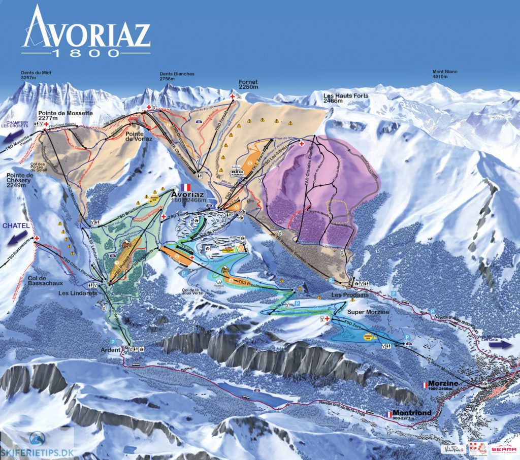 Updated Avoriaz piste map 20172018 Click to see large