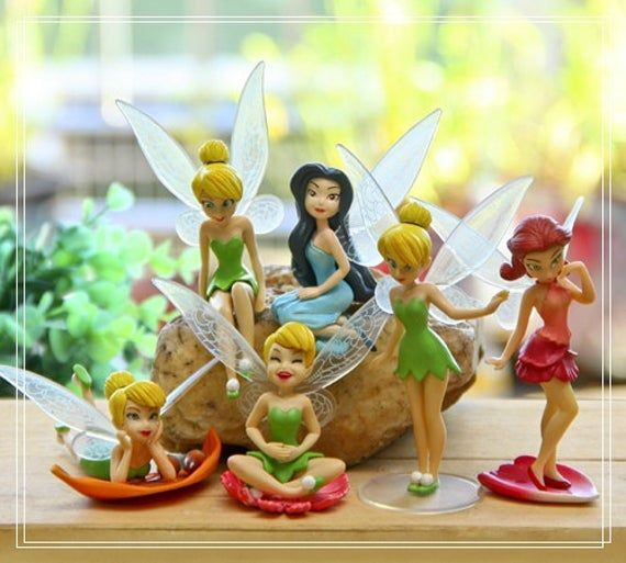 6pc Set Fairy Girls Collectible Toys Fairy Garden Accessories Miniature Dollhouse Accessories Moss Succulent Terrarium Supplier #dollhouseaccessories