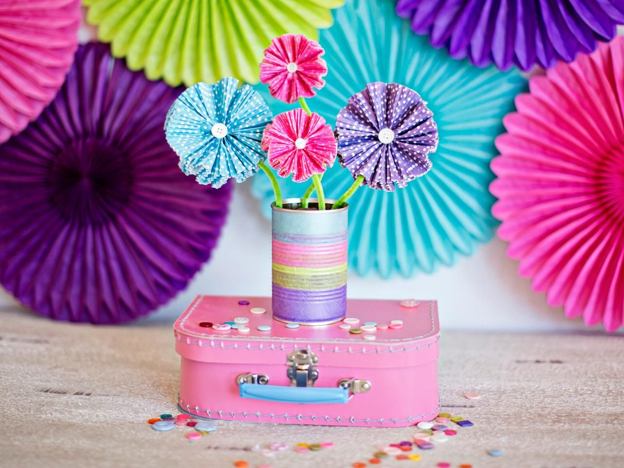 DIY Network Has Easy Step By Instructions For Colorful Paper Flowers Fun