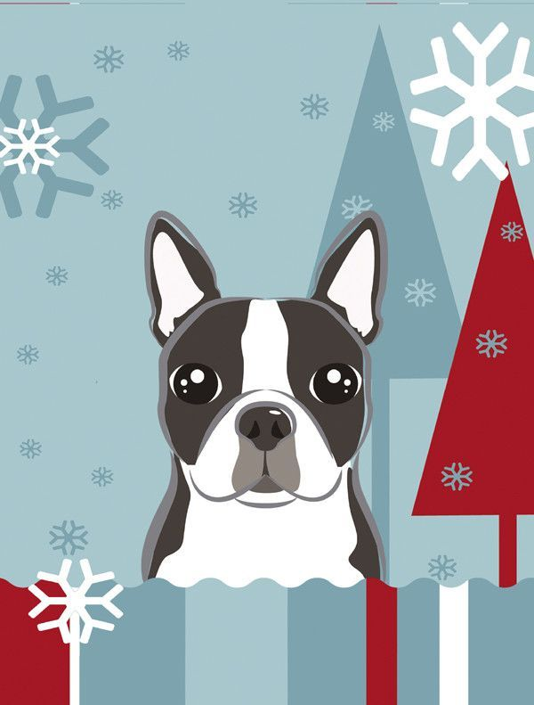 Beautiful Winter Holiday Boston Terrier 2 Sided Garden Flag | Products | Pinterest | Garden  Flags, Terrier And Boston Terrier Art