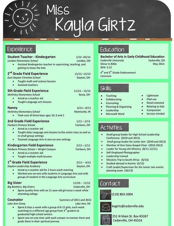 Resume For A Teacher Resume Renovationsrebekah  Teacher Resume  Job Prep