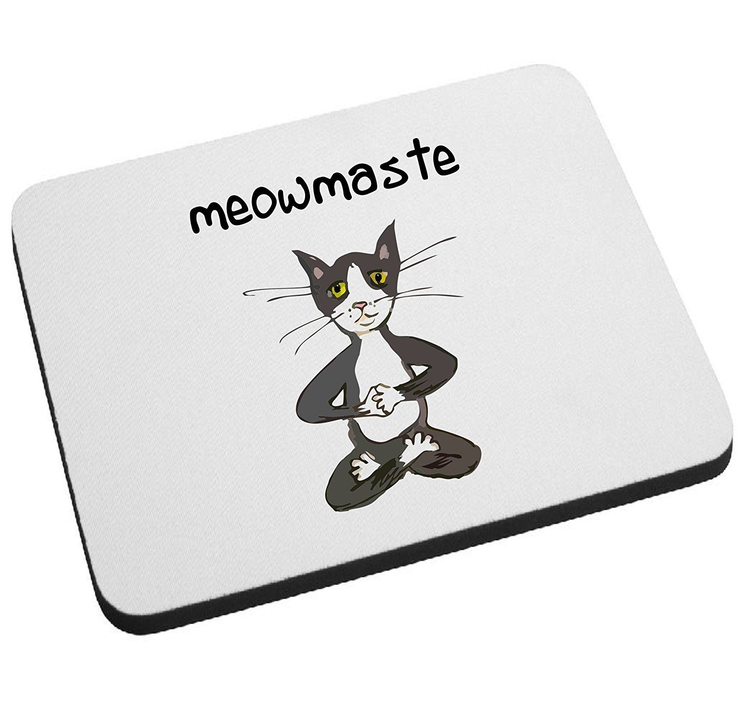 Cat yoga namaste funny cat mouse pad by