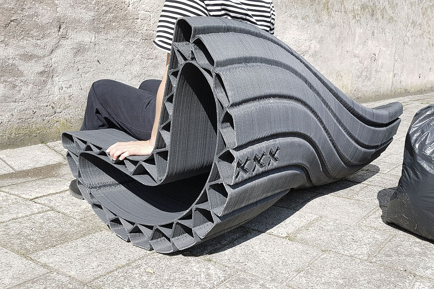 Street Furniture Made From Recycled And 3d Printed Plastic Curbedclockmenumore Arrownoyes The Print Your C Street Furniture Plastic Waste Recycled Plastic