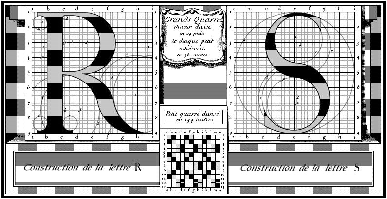 Le Romain du roi  Construction des Lettres R et S | Typeface