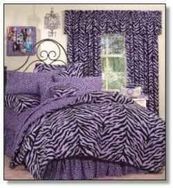Purple zebra print bedding
