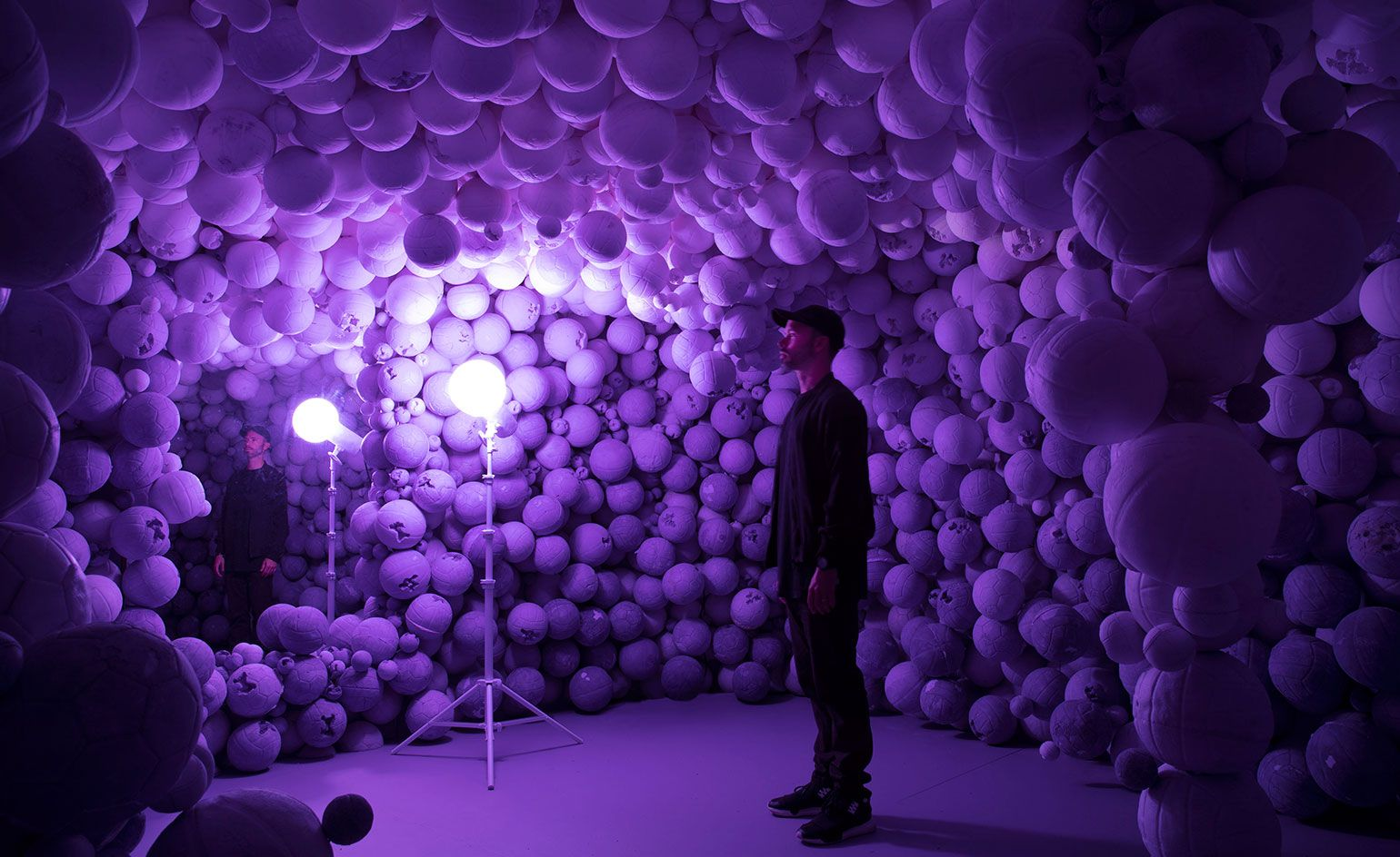 Hourglass figure Daniel Arsham brings calm and colour to
