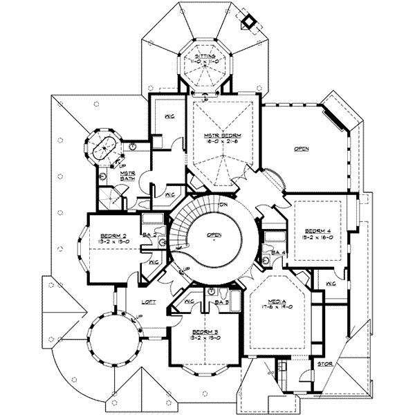 Victorian Style House Plan 4 Beds 4 5 Baths 5250 Sq Ft Plan 132 175 Victorian House Plans House Plans House Floor Plans