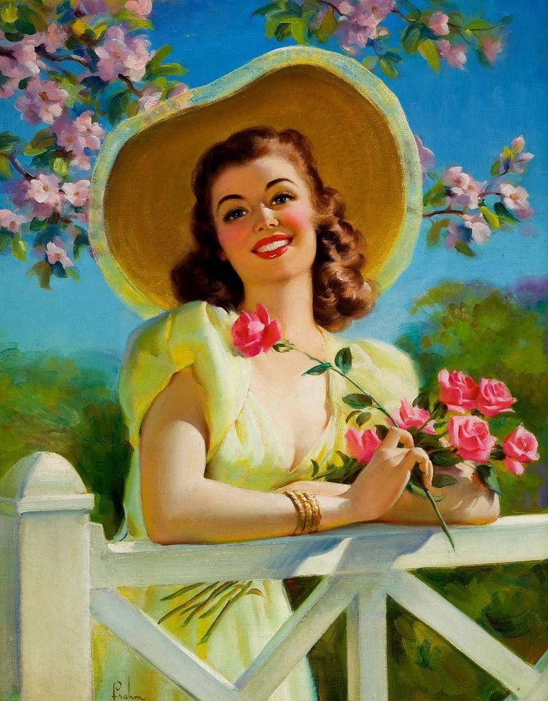 Картинки открытки девушки
