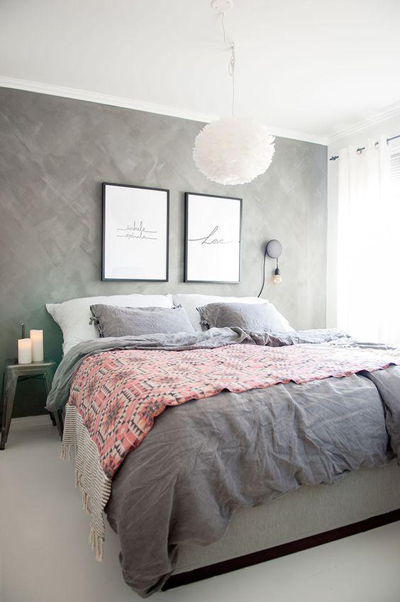 1 donkere muur grijze muur slaapkamer scandinavische slaapkamer slaapkamer voorzien van muren slaapkamer