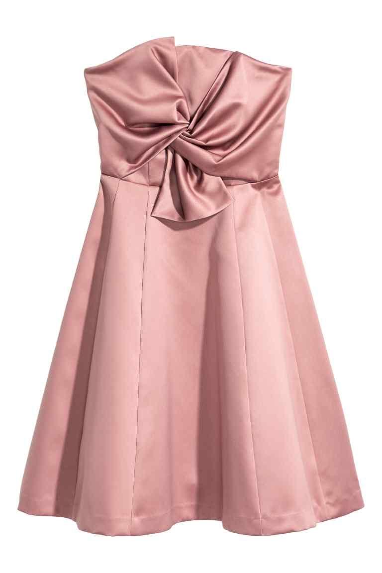 287036dd4c2 Robe bustier courte - Rose vintage - FEMME