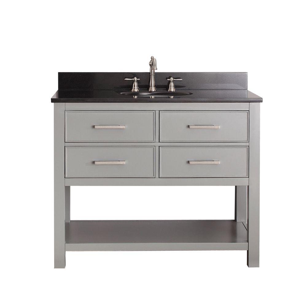 Avanity Brooks 43 in. W x 22 in. D x 35 in. H Vanity in Chilled Gray on 42 inch vanity top only, white bathroom vanity tops, 42 inch cherry bathroom vanity, home depot bathroom vanity tops, 42 inch bathroom vanities, double sink vanity tops, small bathroom vanity tops, 42 inch fireplaces, 42 inch bathroom vanity set, 42 inch granite vanity top, 42 inch bathroom sink, 42 inch showers, 42 inch furniture, contemporary bathroom vanity tops, 42 inch threshold, 30 vanity tops, 42 inch bathroom mirrors,