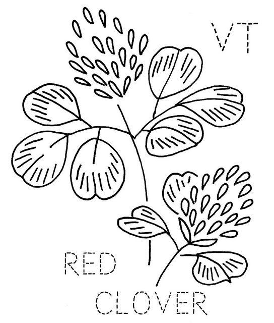 Vermont Red Clover | Bordado, Patrones de bordado y Patrones
