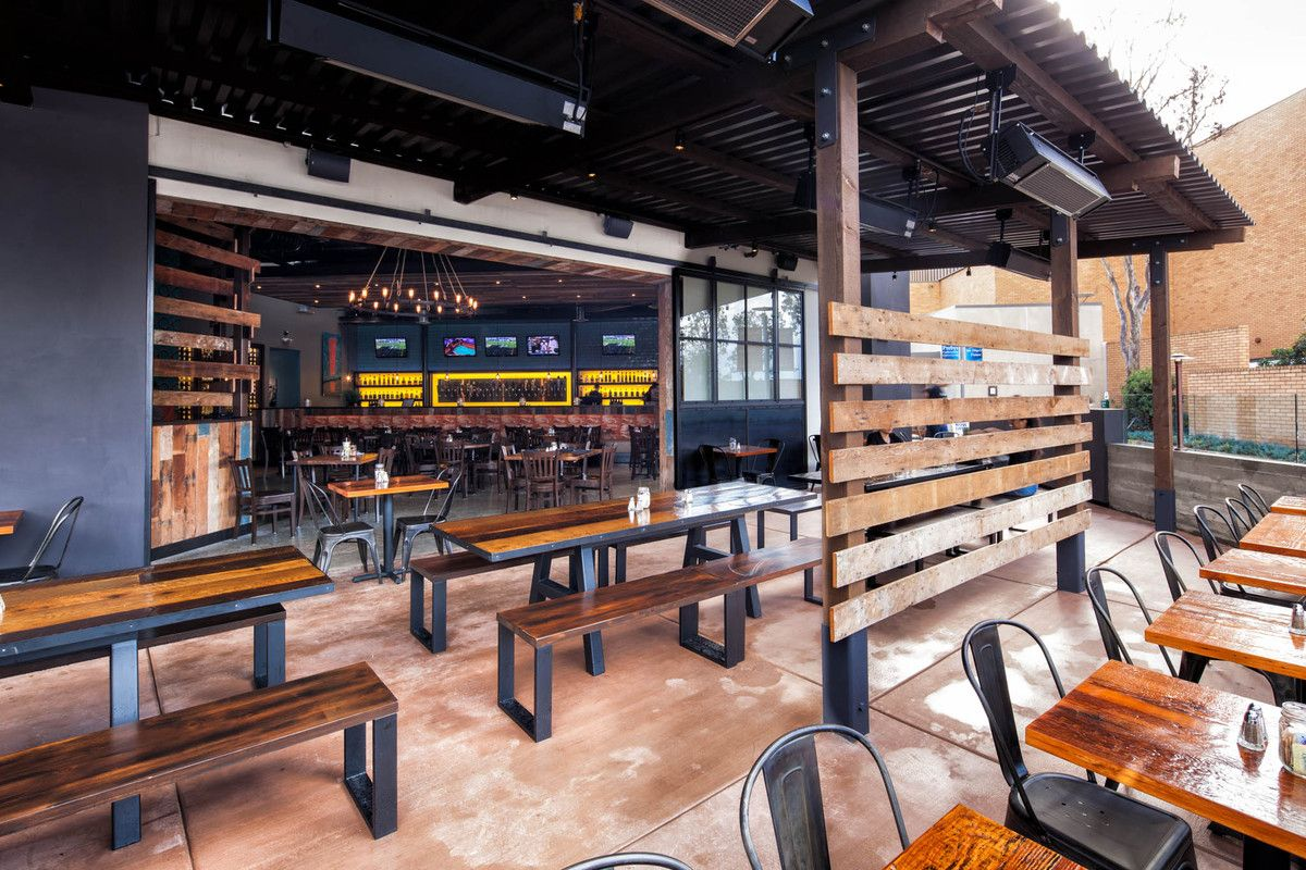 vibrant interior finishes with modern industrial styling | brewpub