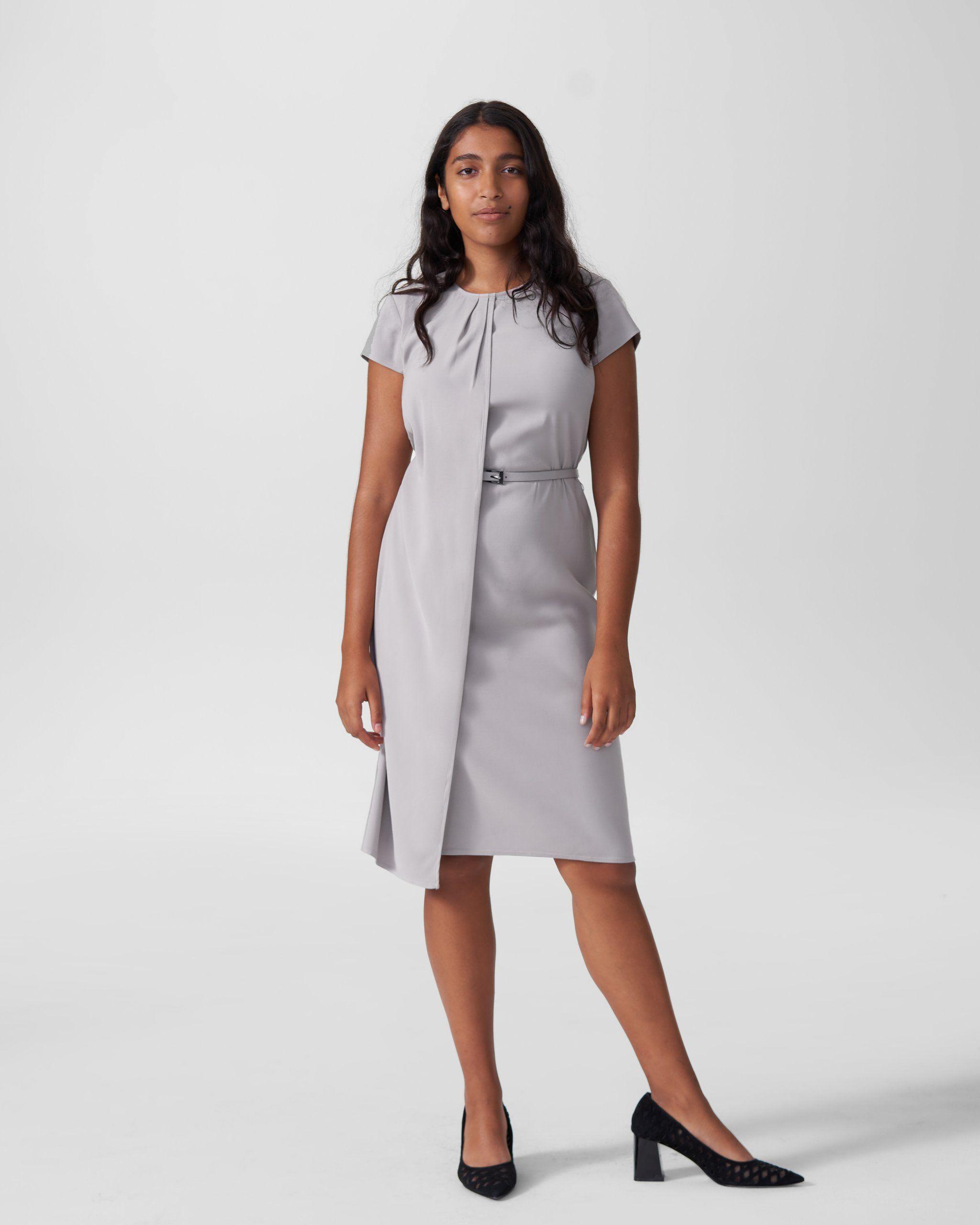 Polina Boardroom Dress - Grey | Universal Standard