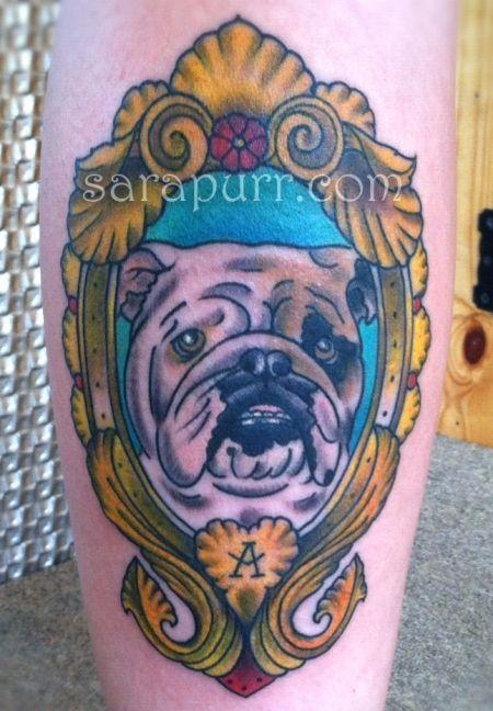 Cameo Bulldog Tattoo Dog Tattoos