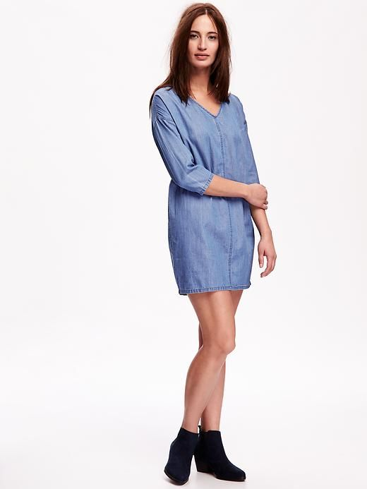 Chambray Shift Dress so comfortable!
