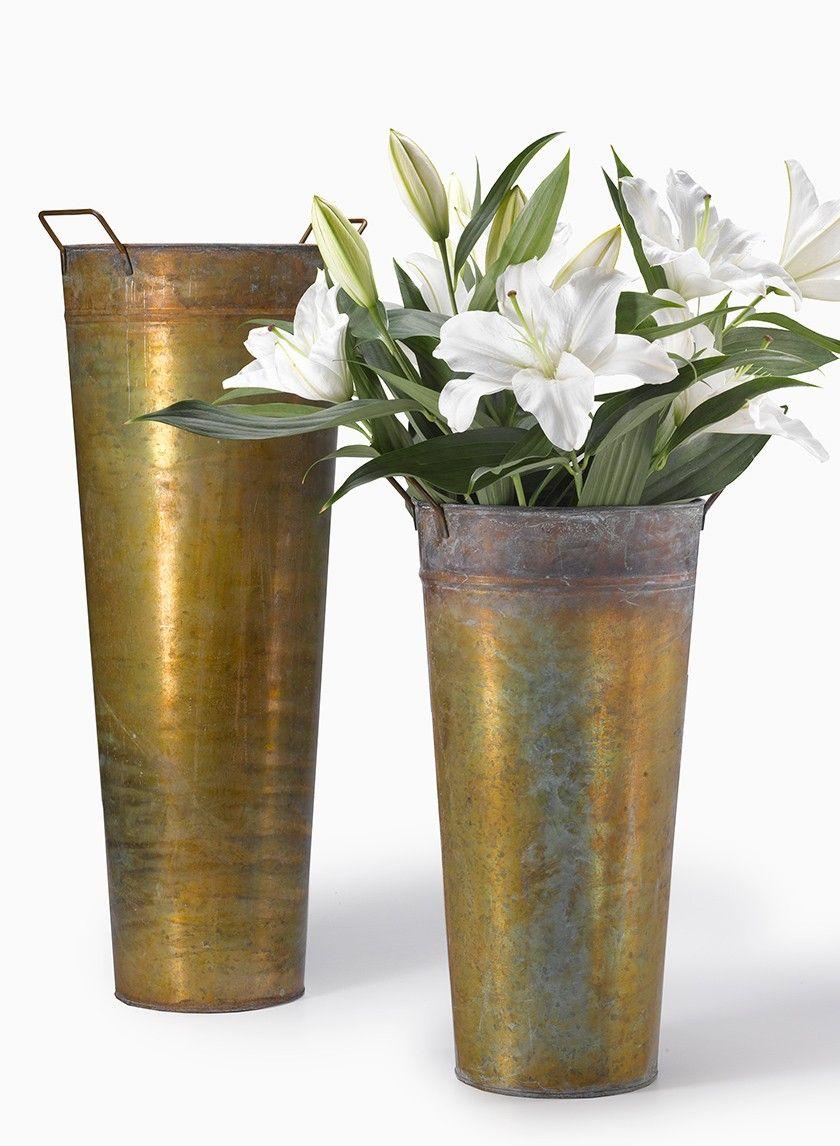 Copper Patina French Vase Metal Vase Vase Copper Patina
