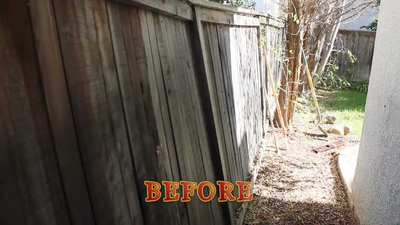How To Fix A Leaning Fence Pool Landscaping Fence Post
