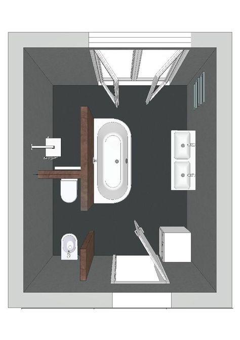 Raumaufteilung Mit Abgetrenntem Wc Ohne Badewanne Bad