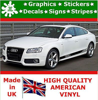 Audi Car Stripes Sticker Set Large Kit Decal Vinyl Graphics Racing Auto  Decal 2 in Vehicle