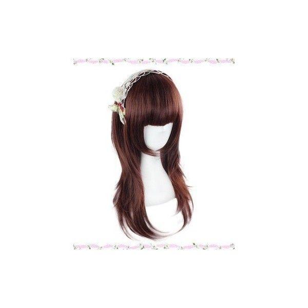 今大人気の ロリータlolita風 GAL系 原宿風 少女日常系 耐熱新素材 cos Wig コスチュム コスプレウィッグ ($28) ❤ liked on Polyvore featuring wig