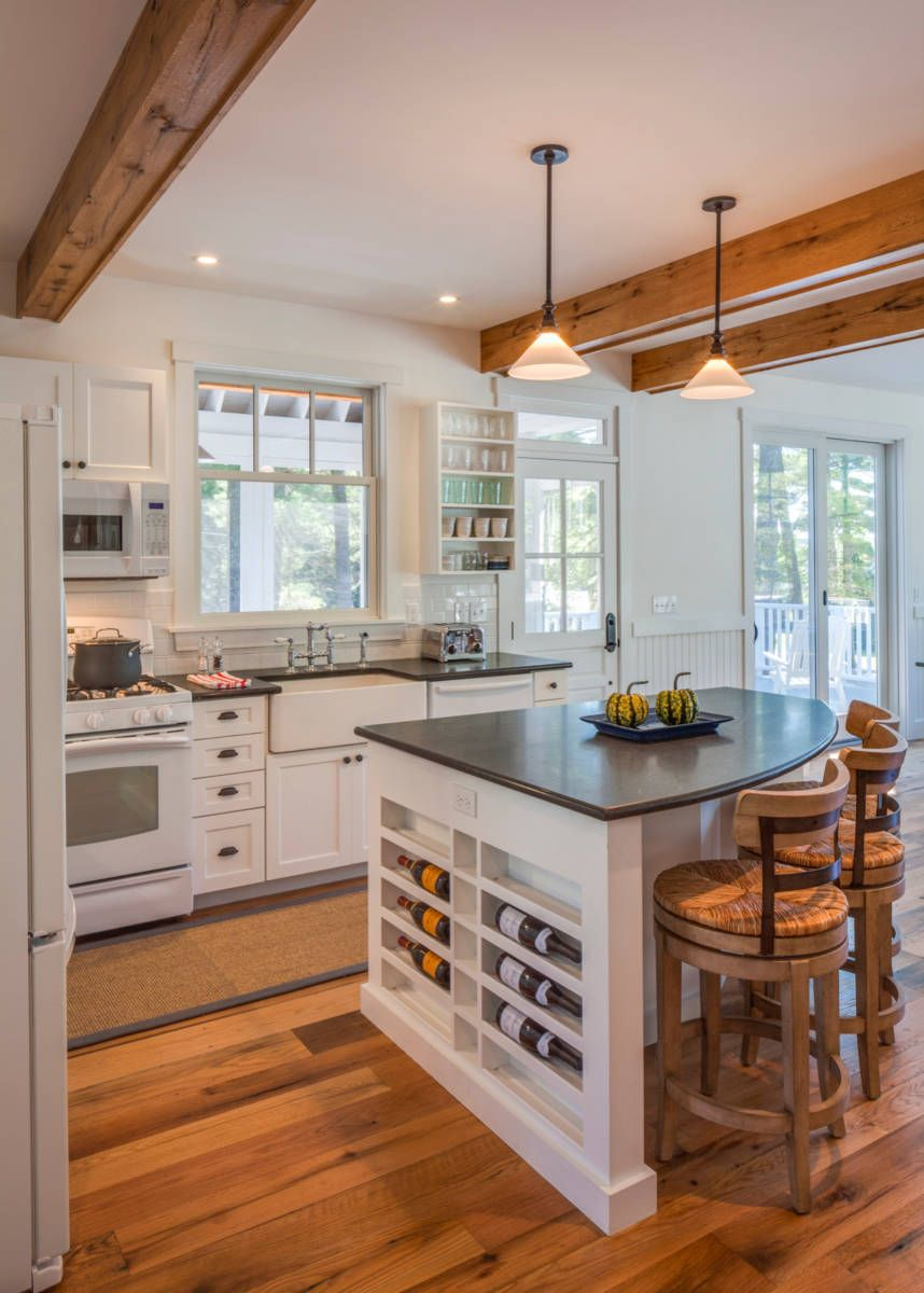 Small Kitchen With Small White Kitchen Island With