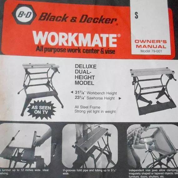 Black And Decker Workmate Model History Woodworking Black Decker Owners Manuals Decker