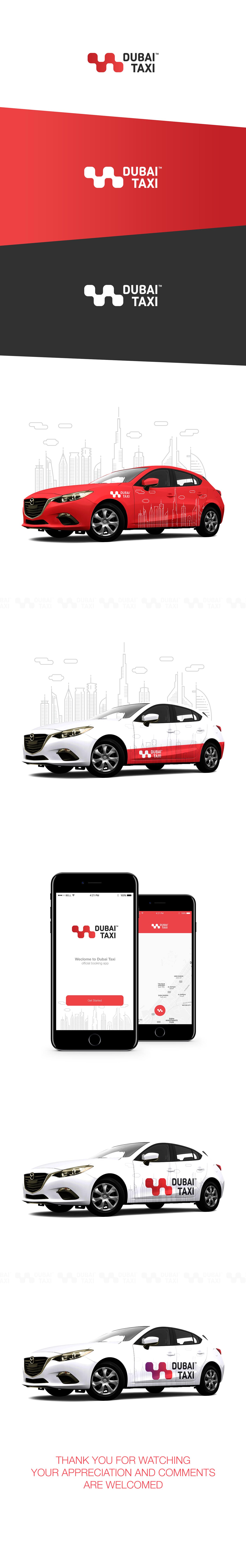 Dubai Taxi Rebranding Logo Design Branding Design Taxi