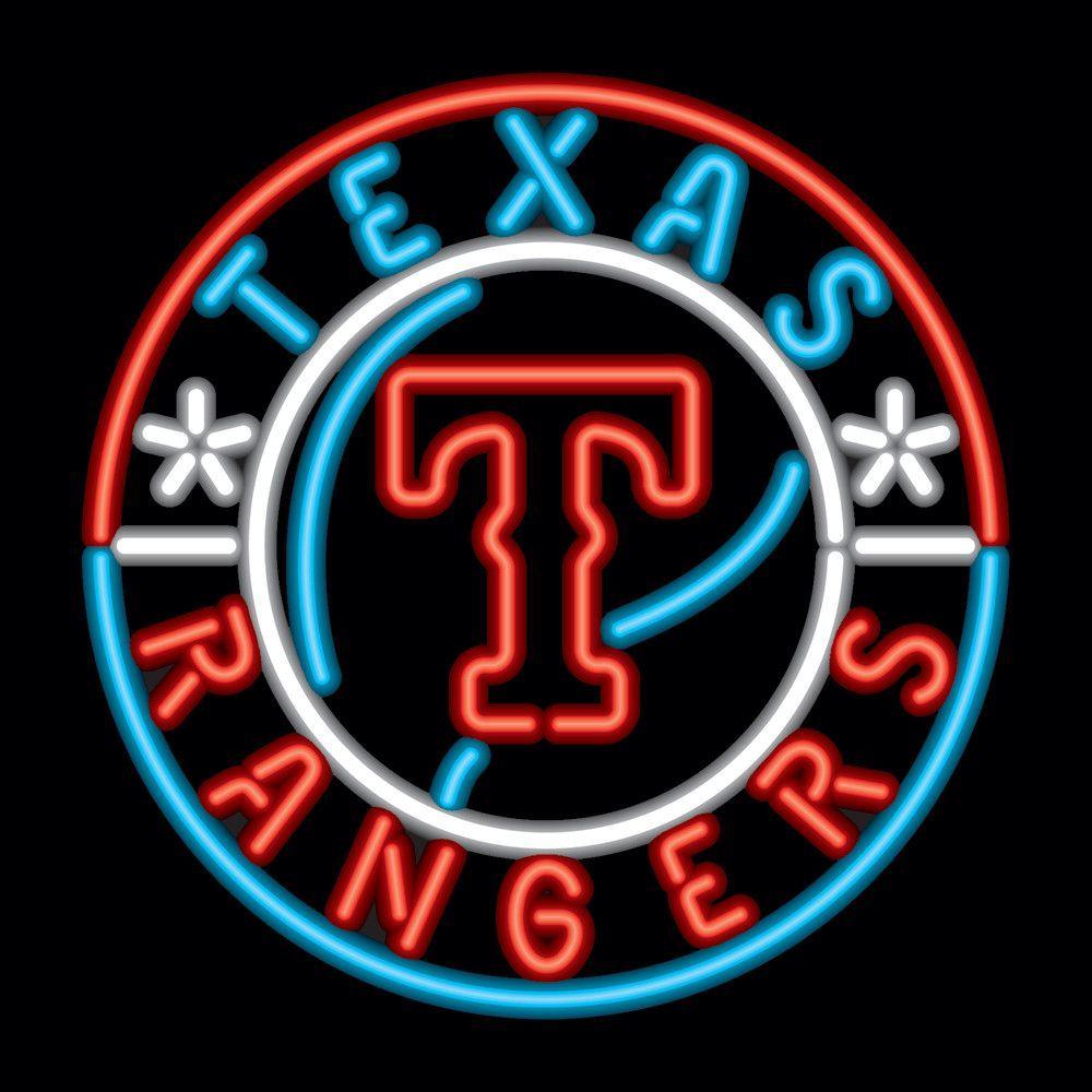 Texas Rangers MLB 23 Inch Team Neon Sign