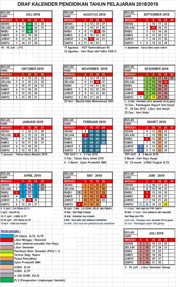 Kalender Pendidikan 2019/2020 Banten Excel : kalender, pendidikan, 2019/2020, banten, excel, Pendidikan
