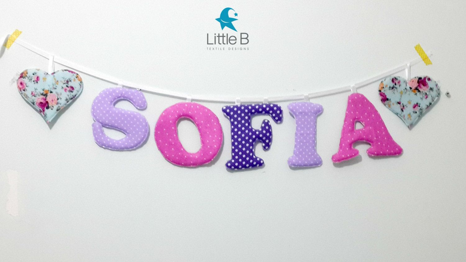 Sofia Name Banner Nursery Wall Letters