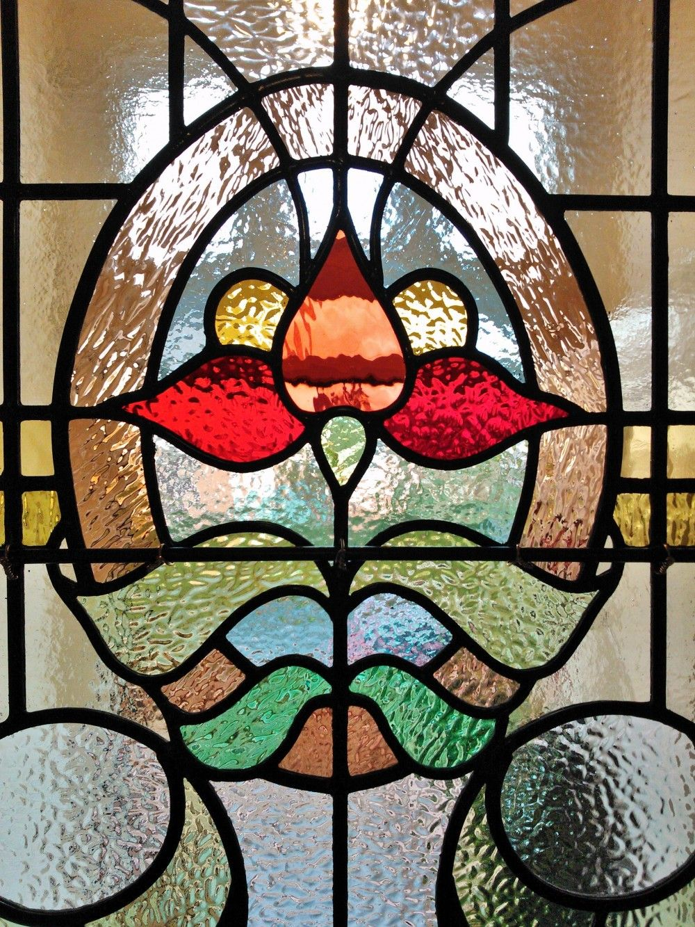 Leaded glass designs for windows - Edwardian Stained Glass Design Transparent Glass Studio